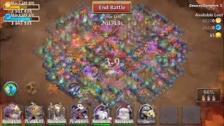 getlinkyoutube.com-Castle Clash: All Insane Dungeons Completed Without Minotaur!