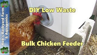 CHEAP Chicken Feeder, How to Build a BULK Chicken/Poultry Feeder, PT1