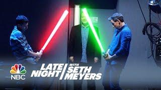 getlinkyoutube.com-Office Lightsaber - Late Night with Seth Meyers