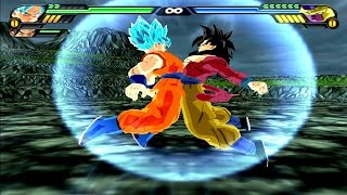 getlinkyoutube.com-Goku SSJGSSJ and Goku SSJ4 Fusion | Goku SSJ4 God DBZ Tenkaichi 3 (MOD)