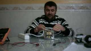 getlinkyoutube.com-Cargador de baterias  gratis con un transformador de microondas sin modificacion