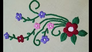 Bead stitch(moti tanka) satin stitch | hand embroidery