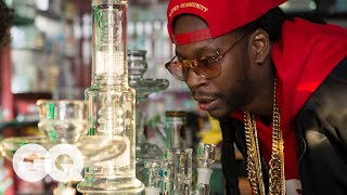 getlinkyoutube.com-2 Chainz Smokes Out of a $10,000 Bong | Most Expensivest Shit