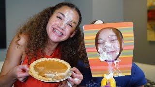 getlinkyoutube.com-Pumpkin Pie Face Challenge!  (Haschak Sisters Rematch)