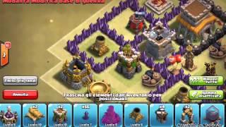 getlinkyoutube.com-Clash of clans | Villaggio municipio livello 8 per War + Air sweeper | Volanò