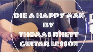 getlinkyoutube.com-Die a Happy Man - Thomas Rhett - Guitar Lesson