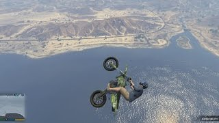 getlinkyoutube.com-#284【GTA5(PS4・XboxOne)】バイクで空を飛んじゃう!!