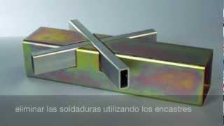 getlinkyoutube.com-Tubos en acero | estructura innovadora con encastres