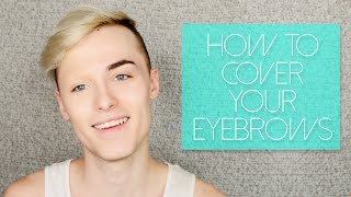 getlinkyoutube.com-How to Cover Your Eyebrows with Makeup for Halloween/Drag