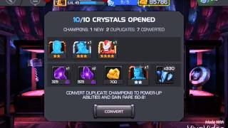 getlinkyoutube.com-Marvel contest of champions : opening crystals
