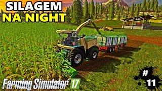 getlinkyoutube.com-Farming Simulator 17 - Fazendo Silagem Na Madrugada #11