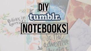 getlinkyoutube.com-DIY Back To School Tumblr Notebooks | Dana Jean