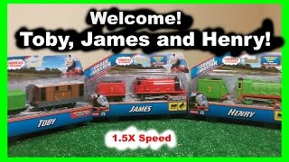 getlinkyoutube.com-Welcome! Thomas and Friends - Toby, James and Henry - 1.5x speed - helium style