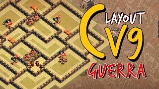 getlinkyoutube.com-LAYOUT DE GUERRA P/ CV9 (2 DISPERSORES) | TH9 WAR BASE WITH 2 AIR SWEEPERS