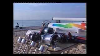 Lanzador carnadas pesca de costa funcionamiento.Fishing bait conveyor