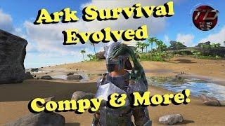 getlinkyoutube.com-Ark Survival Evolved - Rocket Turret, Compy & More!