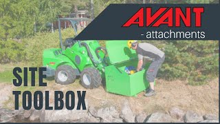 Site toolbox, Avant attachment