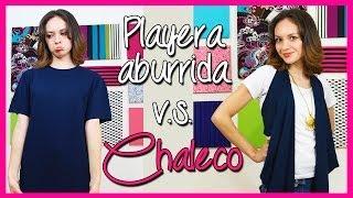 getlinkyoutube.com-¡¡Transforma una Camiseta en Chaleco en 5 min! - Playera Reciclada - Moda Bonita - Catwalk