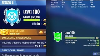 How-to-LEVEL-UP-FAST-in-FORTNITE-How-to-Reach-SEASON-LEVEL-100-the-FASTEST-in-SEASON-4 width=