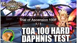 SUMMONERS WAR : Trial of Ascension 100 Hard with Daphnis