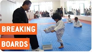 getlinkyoutube.com-Little Boy Trying to Break Board in Taekwondo | The New Karate Kid