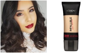 getlinkyoutube.com-New L'oreal Infallible Pro Matte Foundation First Impression & Review!
