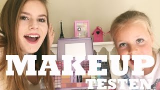 getlinkyoutube.com-DIN(G)SDAG TEST - KINDER MAKE UP UITTESTEN OP MIJN ZUSJE
