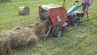 getlinkyoutube.com-BCS Model 853 walk-behind tractor with CAEB mini-haybaler