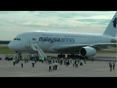 Malaysia Airlines A380 first flight to KL.MTS