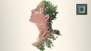 getlinkyoutube.com-Double exposure effect | photoshop tutorial