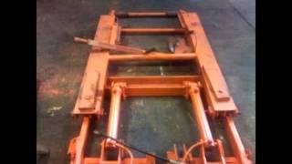 getlinkyoutube.com-Homemade  Portable Hydraulic Vehicle Scissor Lift