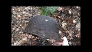 getlinkyoutube.com-WW2 Relikte Teil 65 : Überreste der Wehrmacht neben einem kleinen Flusslauf an der Ostsee