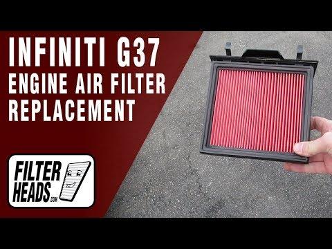 Где в Infiniti G37 находится воздушный фильтр