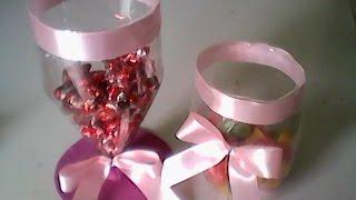 getlinkyoutube.com-Baleiro de garrafa pet decoração de festa fácil e prático.