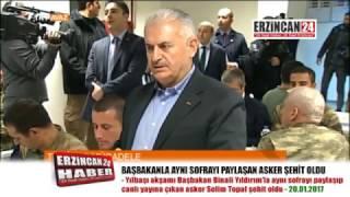 Erzincanlı Şehit, Başbakanla Canlı Yayına Çıkmış