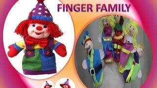 getlinkyoutube.com-Finger family song ✌ Clown puppets family ♕