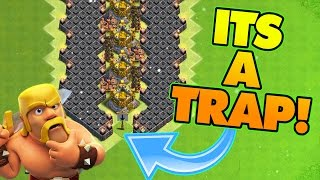 "getlinkyoutube.com-Clash Of Clans | TROLLING CHAMPIONS! ""VALLEY OF DEATH"" EPIC TROLL BASE! ANTI NOOBS!"
