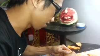 getlinkyoutube.com-Nyoman Putra (Carrot Carving Lobster)