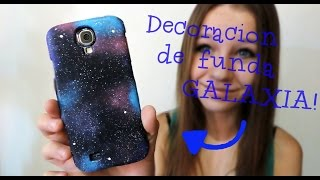 getlinkyoutube.com-DIY - Decoración de funda galáctica - Galaxia