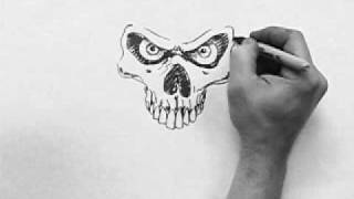 getlinkyoutube.com-Skull Speed Drawing (dirtdesignsgraphic.com)