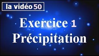 Chimie des solutions-Exercice 1 Précipitation-partie#50