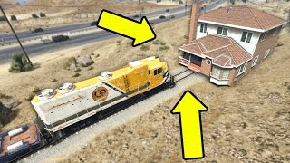 getlinkyoutube.com-CAN A HOUSE STOP THE TRAIN IN GTA 5?
