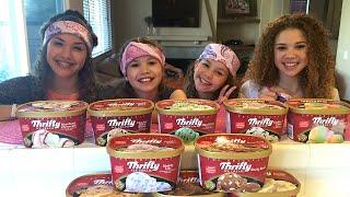 Ice Cream Challenge!  (Haschak Sisters)