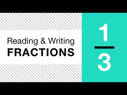 Math Basics: Reading and Writing Fractions