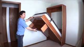 How I built my wall bed quickly and easily with Easy DIY Murphy Bed hardware kit. width=