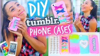 getlinkyoutube.com-DIY 5 Easy Phone Cases (Studded, Ombre & More) | Tumblr Inspired