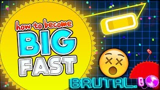 HOW TO BECOME REALLY BIG (10,000+) FAST & WORLD RECORD!!   THE BEST NEW IO GAME (Brutal.io Gameplay)