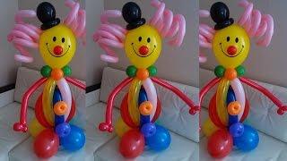 getlinkyoutube.com-Клоун из воздушных шаров своими руками. Clown made of balloons with their hands.