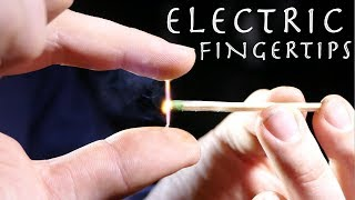 How To Make Electric Fingertips! - LIGHT WHATEVER YOU TOUCH ( $10 Magic Trick)