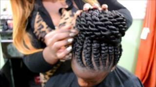 getlinkyoutube.com-Ghana Braids with Twist bun by Omeece Culmer